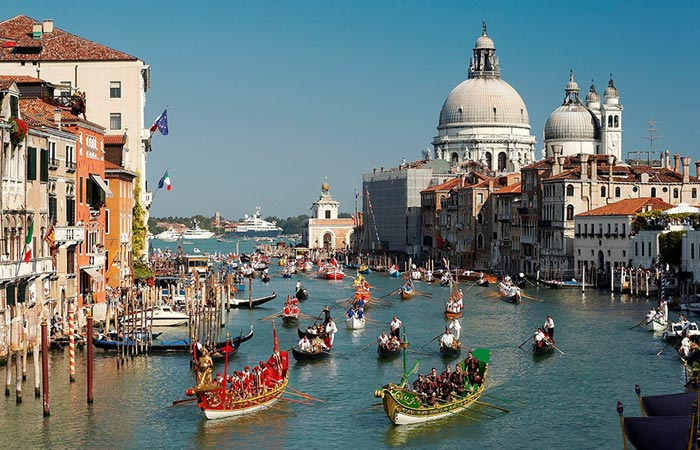 The historical regatta of Venice
